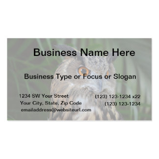 owl turning to the right head view business card template