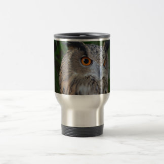 owl turning to the right head view mugs