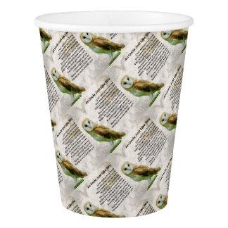 Owl  - Uncle Poem Paper Cup
