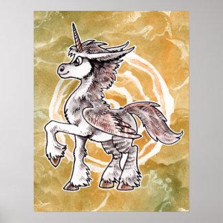 Owl Unicorn Poster