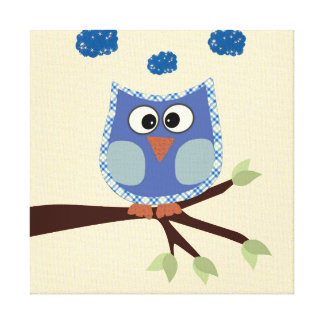 Owl Wall Art Canvas Decor for Baby Boys Bedroom Stretched Canvas Prints