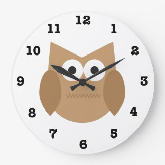 Owl Wall Clock (with Numbers)