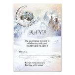 Owl Winter Wonderland Wedding RSVP Card 9 Cm X 13 Cm Invitation Card