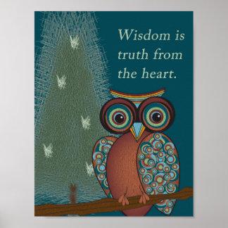 Owl Wisdom Poster