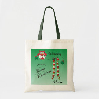 Owl Wishing You A Very Merry Christmas Gift Bag