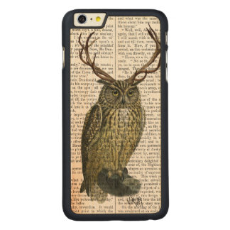 Owl with Antlers plain 2 Carved® Maple iPhone 6 Plus Case