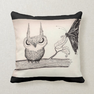 Owl with Attitude -American MoJo Pillow Cushions