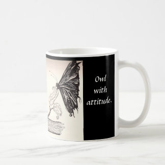 Owl with Attitude - Cute mug