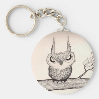 Owl with attitude - Keychain