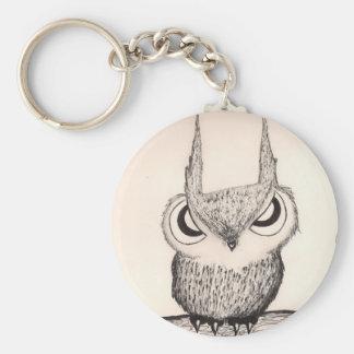 Owl With Attitude - Keychain