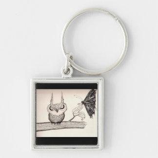 Owl with Attitude Keychain