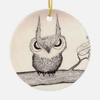 Owl with Attitude - ornament