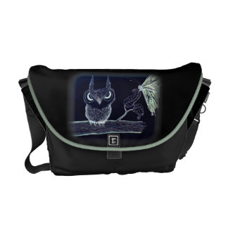 Owl with Attitude - Rickshaw Messenger Bag