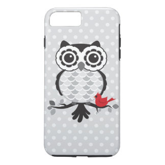 Owl with Cardinal iPhone 7 Plus Case