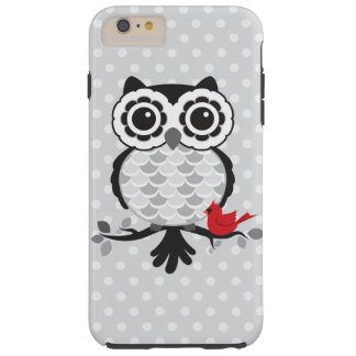 Owl with Cardinal Tough iPhone 6 Plus Case