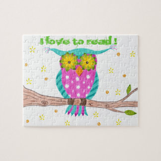 Owl with flowery eyes puzzle