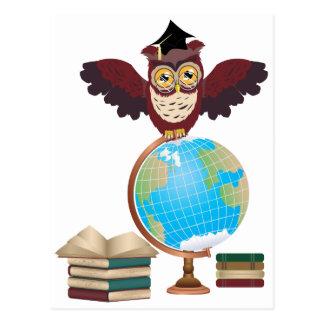 Owl with Globe 2 Postcard