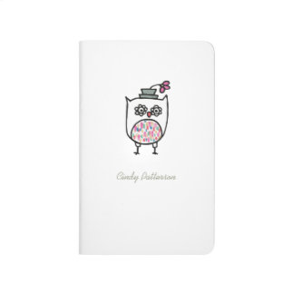 Owl with Hat Pocket Journal