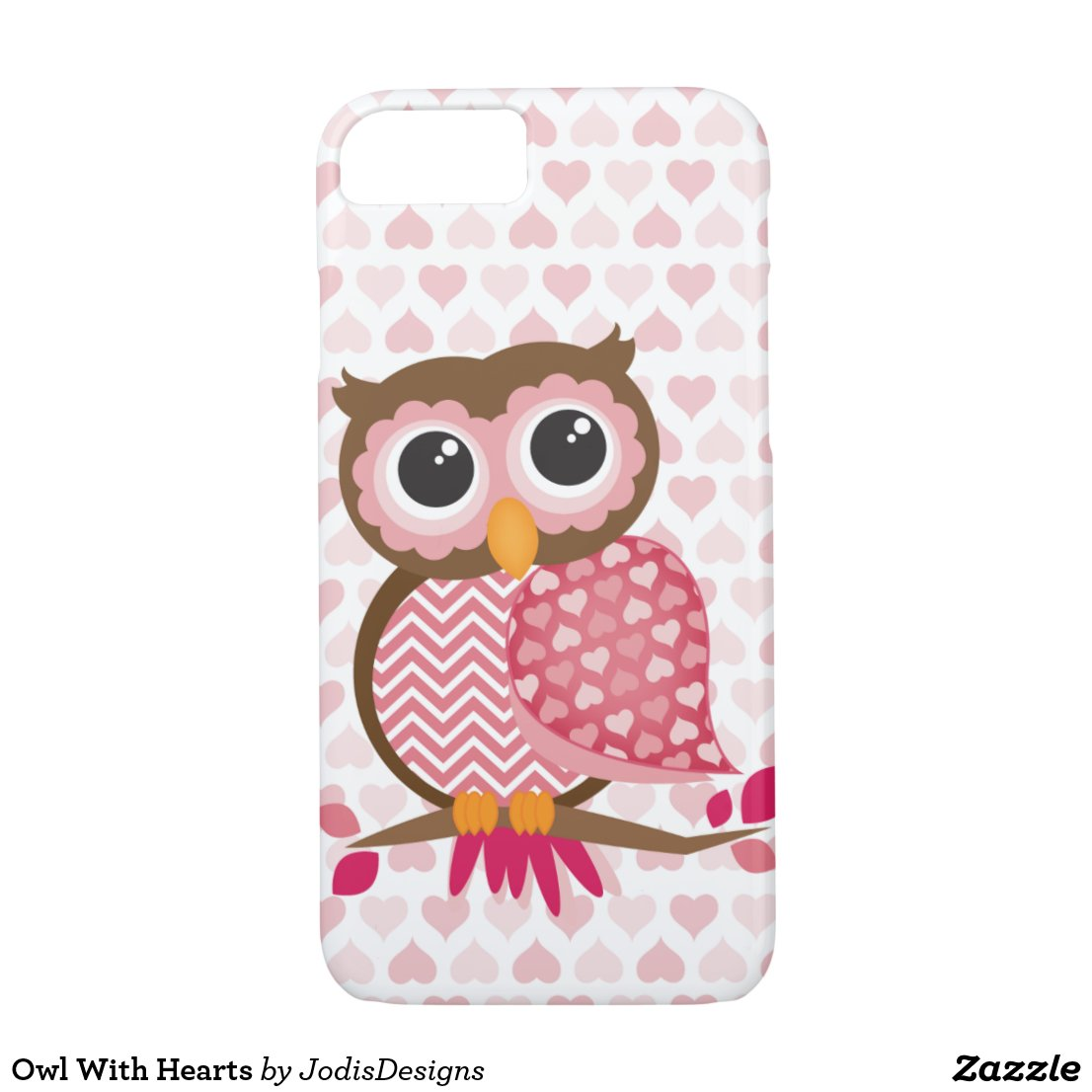 Owl With Hearts iPhone Case
