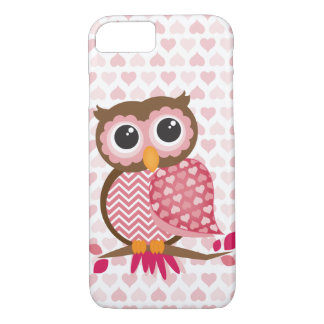 Owl With Hearts iPhone 7 Case