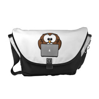 Owl With Laptop Courier Bags