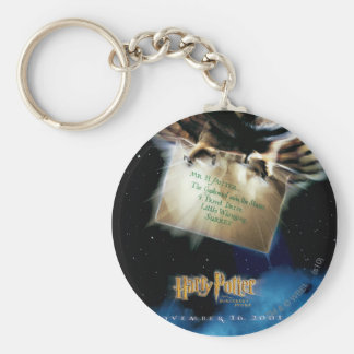 Owl with Letter Movie Poster Key Ring