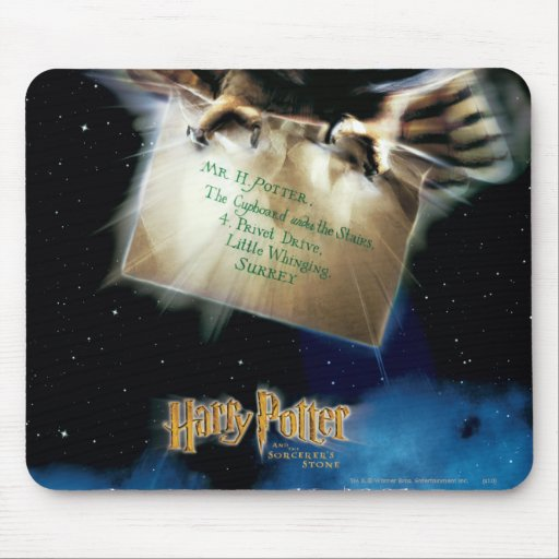 Owl with Letter Movie Poster Mousepads