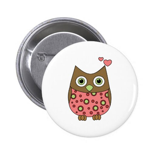 Owl WIth Love Buttons