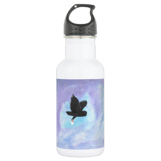 Owl With Mail Water Bottle 532 Ml Water Bottle