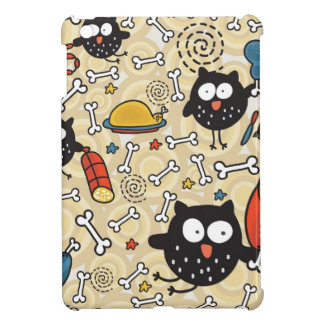 Owl with Meat Pattern Cover For The iPad Mini