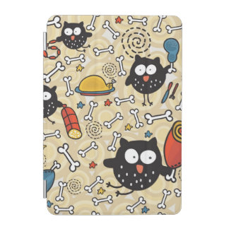 Owl with Meat Pattern iPad Mini Cover