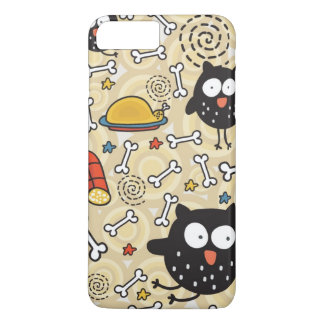 Owl with Meat Pattern iPhone 8 Plus/7 Plus Case