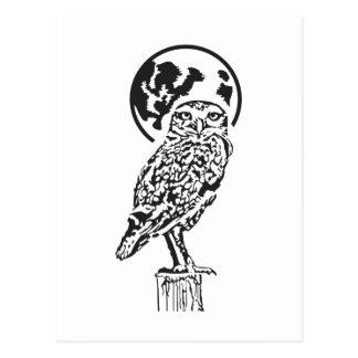 OWL WITH MOON POSTCARD