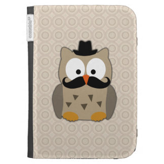 Owl with Moustache and Hat Case For The Kindle