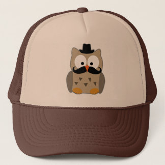 Owl with Mustache and Hat