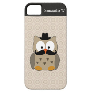 Owl with Mustache and Hat iPhone 5 Cases