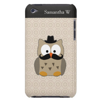 Owl with Mustache and Hat iPod Case-Mate Case