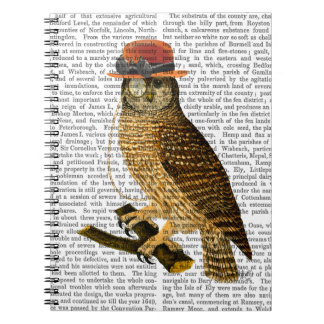 Owl with Steampunk Style Bowler Hat Note Books