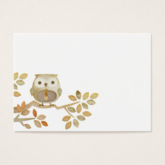 Owl with Tie in Tree Business Card