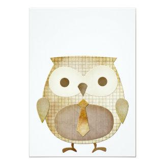 Owl With Tie Invitation