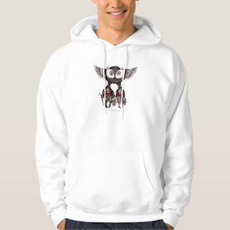 Owl with two people abstract graphic art hoodie