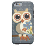 Owl with Vintage Flowers iPhone 6 case Tough iPhone 6 Case
