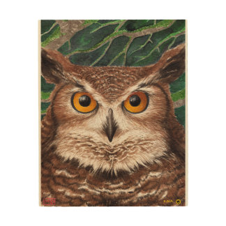 Owl Wood Wall Art