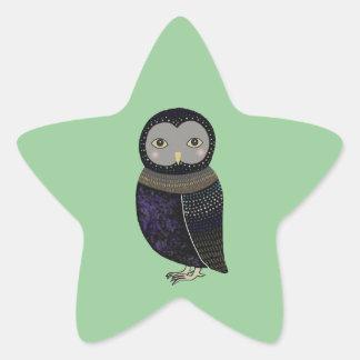 Owl Woodland Baby Shower/Birthday Party Favor Star Sticker