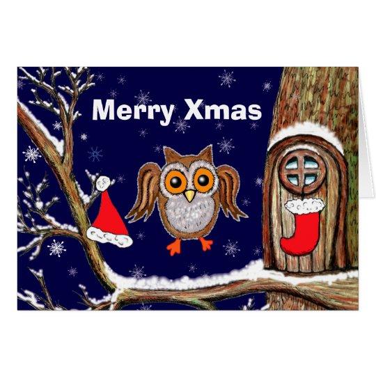 Owl Xmas Card