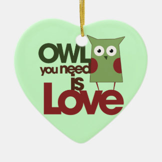 Owl you need is love christmas ornament
