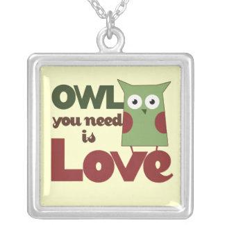 Owl you need is Love Pendants