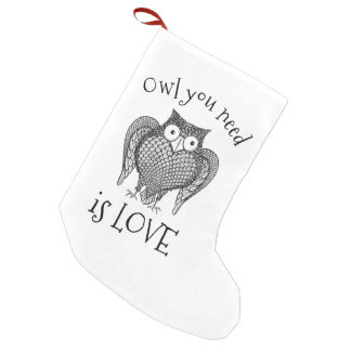Owl you Need Small Christmas Stocking