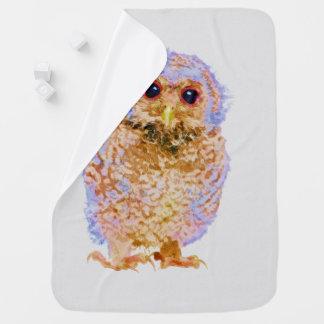 Owlet Baby Owl Watercolor Nursery Print Baby Blanket