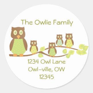 Owlies Round Sticker